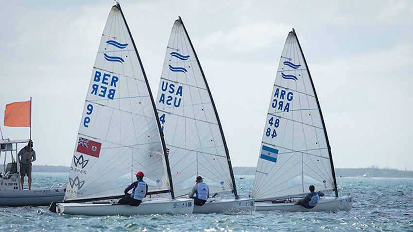 Eric Anderson at the 2020 USA Hempel World Cup of Sailing